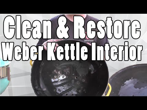 How to clean the inside of your Weber charcoal grill