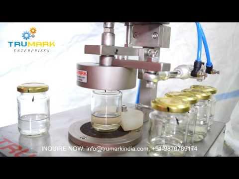 semi automatic lug capping machine | twist off caper