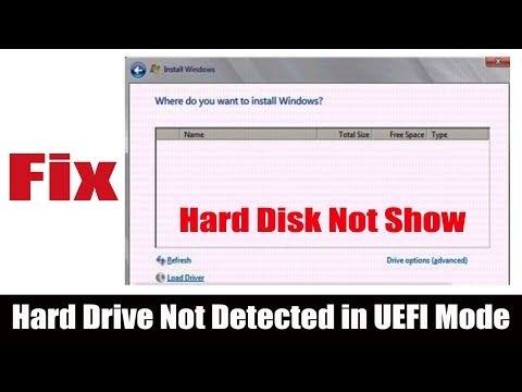 Hard Disk Not Show While Install Windows 7 - UEFI Mode & Secure Boot Mode
