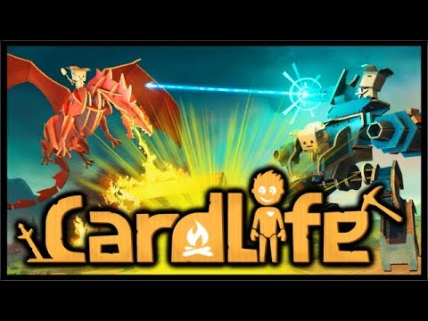 THE GAME MADE ONLY OUT OF CARDBOARD!? | CardLife Gameplay