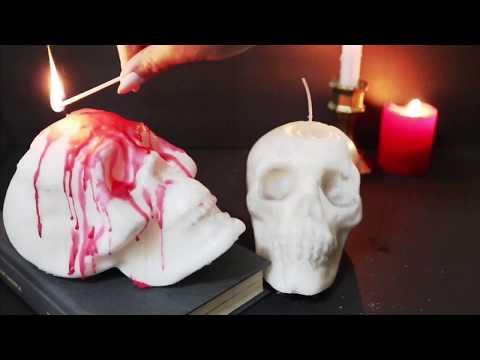 Dollar Tree DIY Skull Shaped Candle