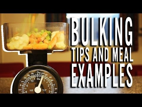 Quick, Easy High Calorie Meal Examples (Bulking Tips)