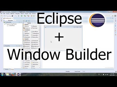 Install Window Builder plugin for Eclipse Oxygen to create Java Swing