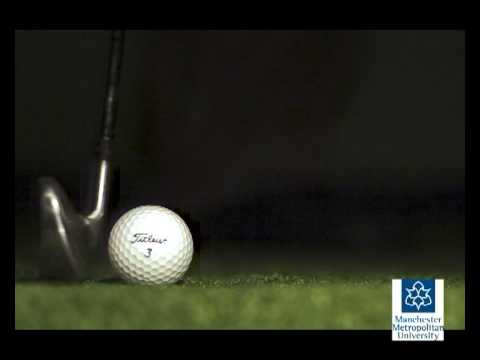 Golf impacts - Slow motion video
