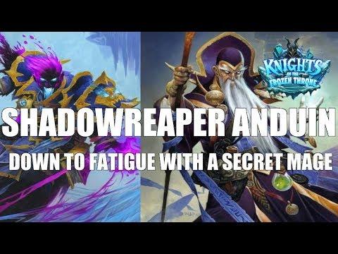 Raza Shadowreaper Anduin vs. a Secret Mage down to fatigue