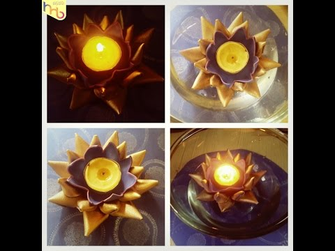 craft foam 3D flower floating Candle diya tutorial