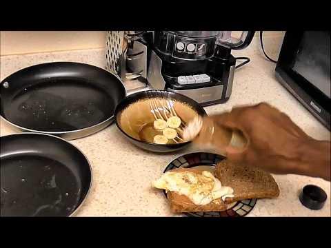 How to Make Egg Whites & Peanut Butter Banana Sandwich Recipe