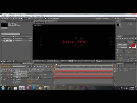 How to make a Title sequence on After Effects (Beginners)