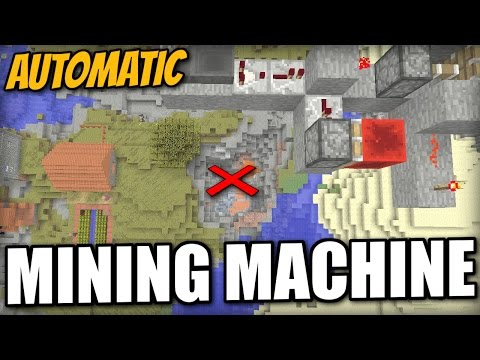 Minecraft PS4 - AUTOMATIC MINING MACHINE - Xbox / PS3 / Wii U