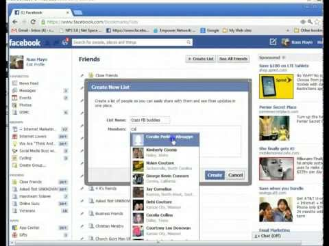 Facebook how to make a list on facebook