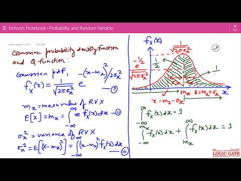 Probability and Random Variable I  Gaussian Probability Density Function and Q function