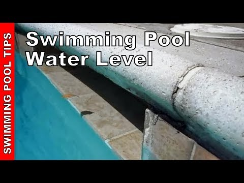 Pool Water Level, proper water level