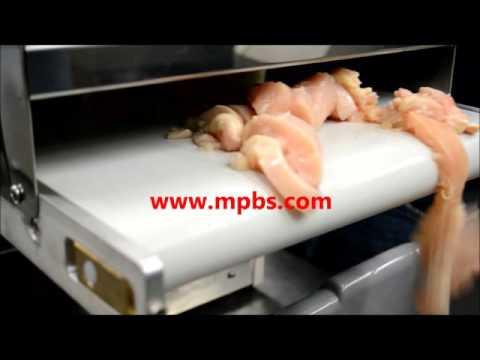 Pro-Slice SC300 12mm Meat Dicers Strip Cutter - Boneless Chicken Demo