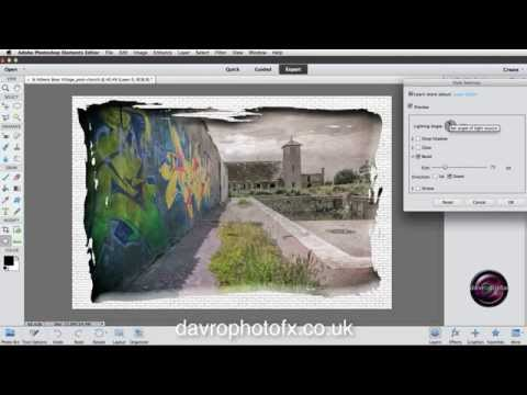 Using the Cookie Cutter to create a border in  Photoshop Elements