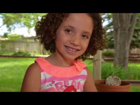 Little Curly girl haircut fairytale.