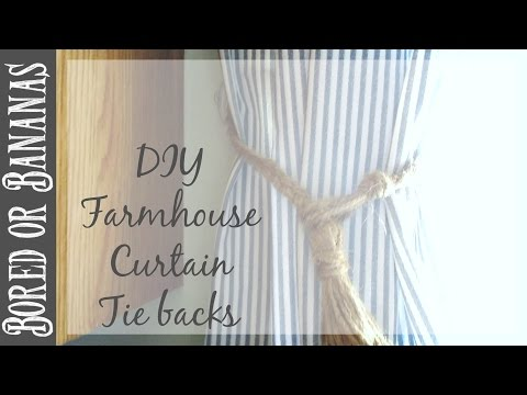 DIY Farmhouse Decor {Tassel Curtain Tie backs}