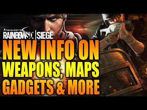 Rainbow Six Siege - In Depth: NEW INFO ON WEAPONS, MAPS, GADGETS & MORE!