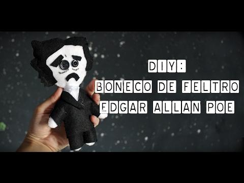 DIY Edgar Allan Poe de Feltro