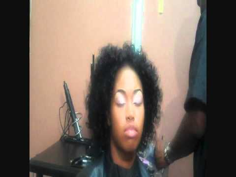Relaxed hair natural look