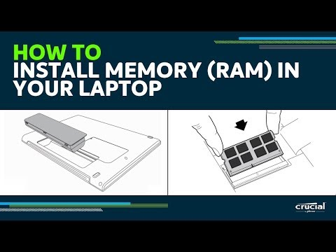 How to install memory (RAM) in your laptop computer