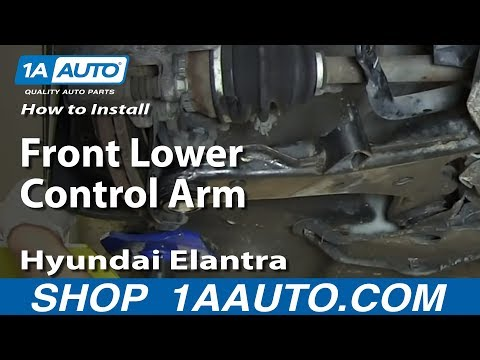 How To Install Replace Front Lower Control Arm 2001-06 Hyundai Elantra