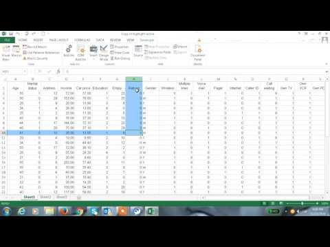 Excel 2013 Tutorial#32 How to Highlight active cell in Excel 2013