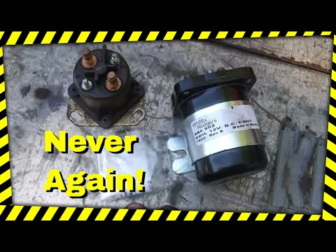 Replacing the glow plug relay (solenoid) on a 7.3 ford powerstroke.