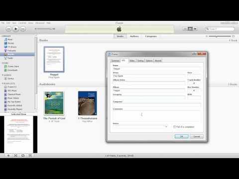 Import an ePub book into iTunes