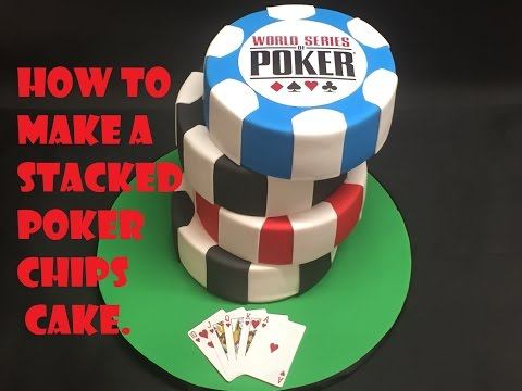 Poker chips cake tutorial