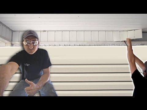 Remove Vinyl Siding.. Porch To Room Project  Vid #1