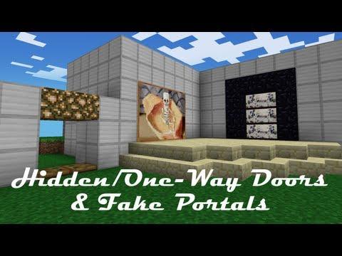How to Make Hidden/One-Way Doors and Fake Portals in Minecraft PE