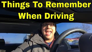 8 Things To Remember When Driving