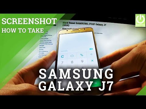 How to Take Screenshot on SAMSUNG Galaxy J7 (2016)