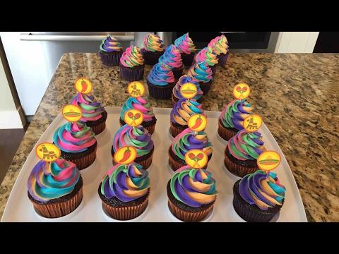 Rainbow Swirl Cupcake Tutorial
