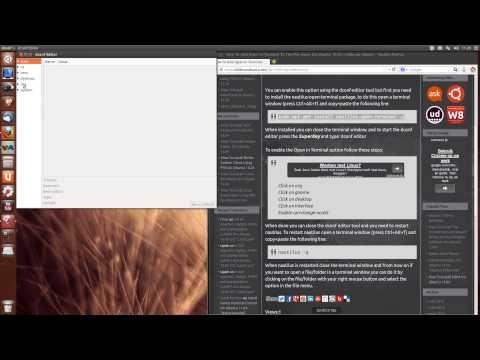 How To Add Open In Terminal To The File menu On Ubuntu 13.04