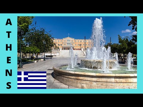 ATHENS, the central historic SQUARE OF SYNTAGMA (or, CONSTITUTION SQUARE), Greece