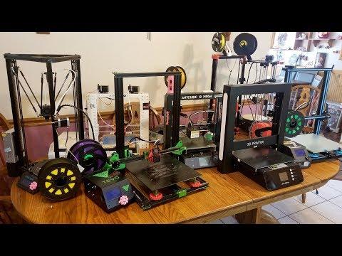 Comparing all my 3D printers.  Best 3D printer 2018.