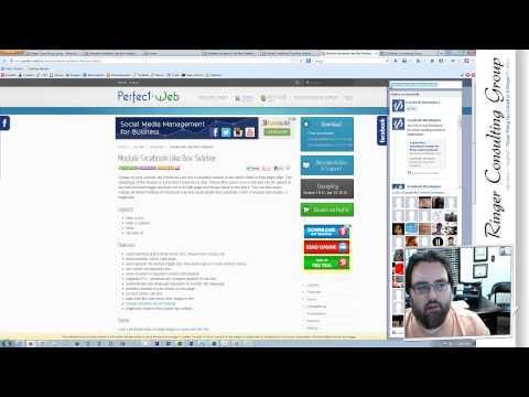 Joomla 3x - Facebook Like Box Sidebar