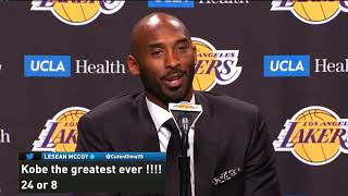 Kobe Bryant - Jersey Retirement Press Conference (Number 8 and 24, Los Angeles Lakers)