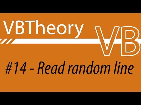 Read A Random Line From A Txt (EASY WAY) - VB#14