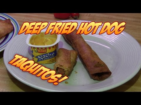 Deep Fried Chili Cheese Hot Dogs!