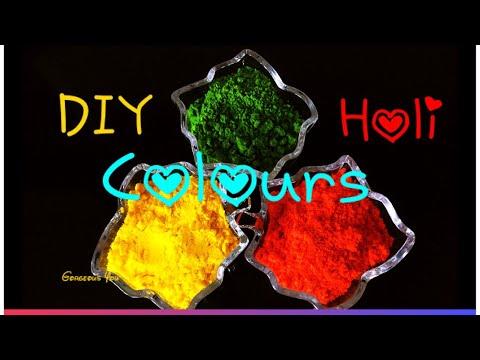 How To Make Holi Colours At Home,Homemade Holi Powder|Gorgeous You|