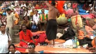 Sadhus chant, sing and dance!