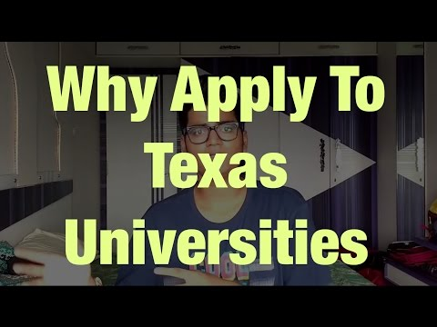 Why apply to Universities in Texas - Scholarship and In State Tuition for International Students