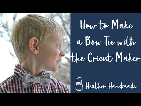 How to Make a Bow Tie with the Cricut Maker