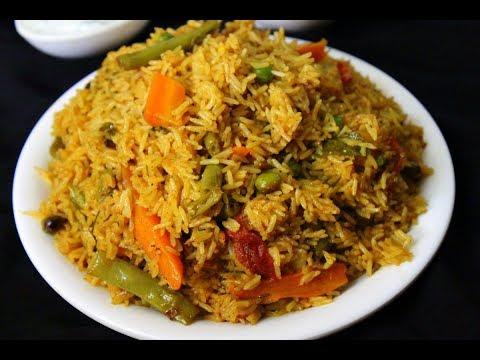 quick vegetable biryani /vegetable biryani in pressure cooker hindi (pressure cooker biryani easy)