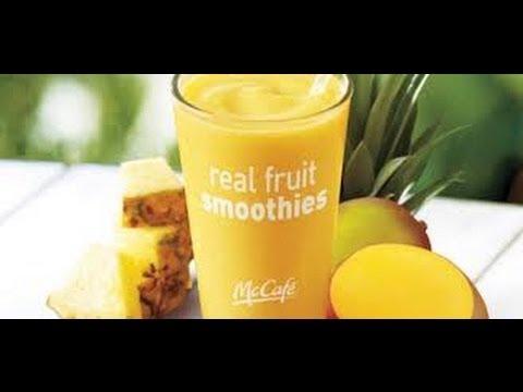 How to make a Mcdonald's pineapple mango smoothie