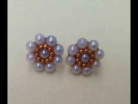 How to make pearl studs | DIY pearl earrings