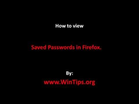 How to View Stored Passwords in Firefox.