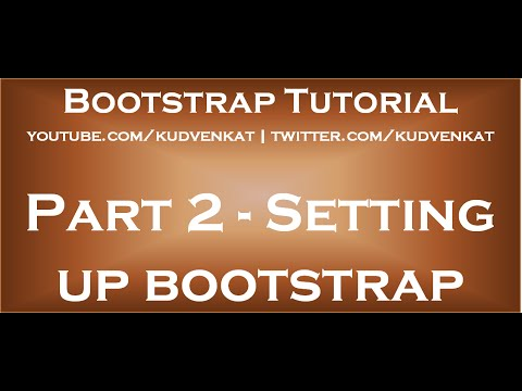 Setting up bootstrap